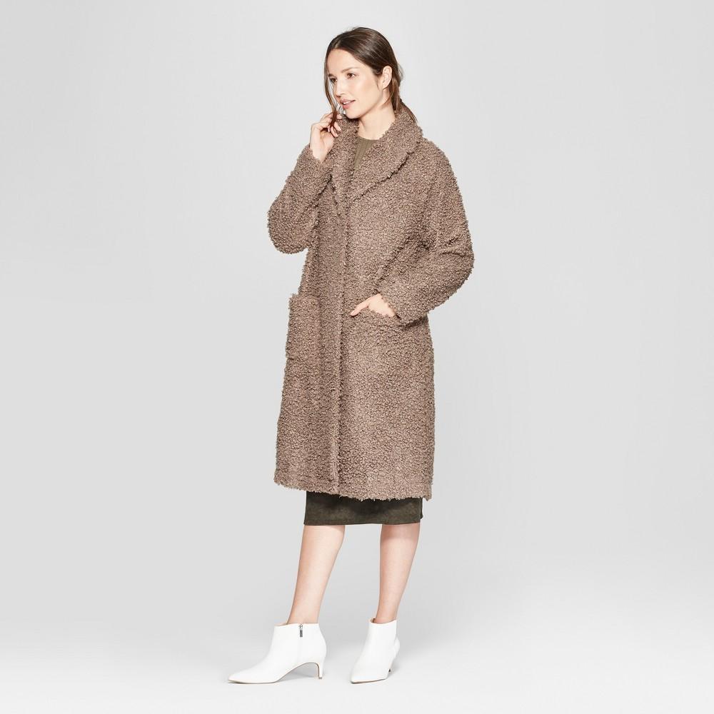 Women's Long Sleeve Sherpa Overcoat - Prologue Gray S