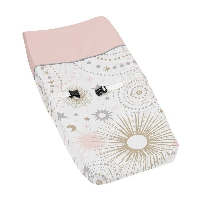 Sweet Jojo Designs Changing Pad Cover - Celestial - Pink/Gold