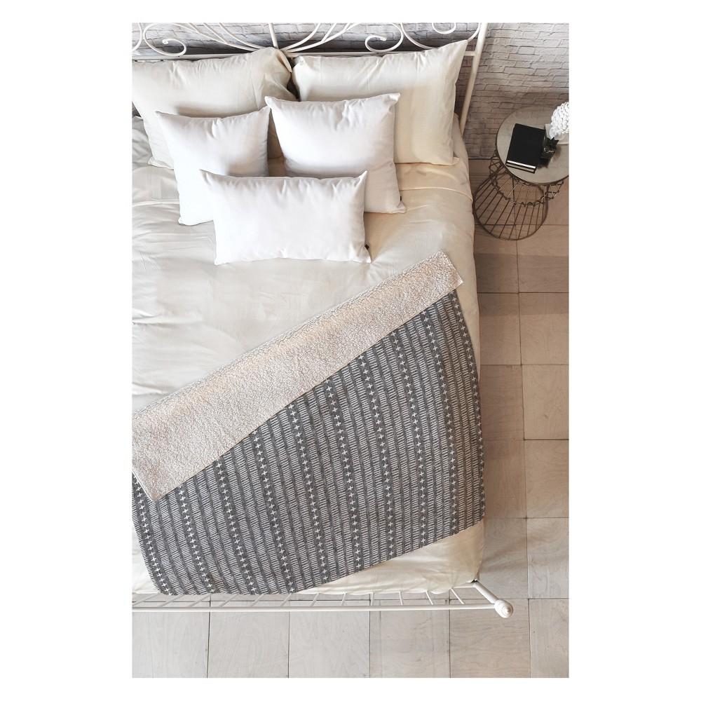 50''x60'' Little Arrow Design Co Dash Throw Blanket Black - Deny Designs