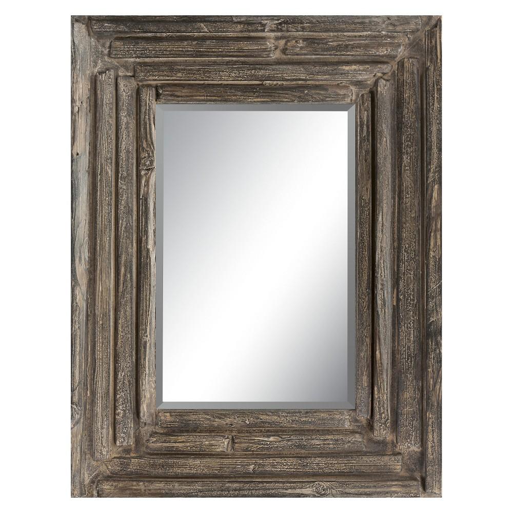 Rectangle Nikita Decorative Wall Mirror - Surya, Black