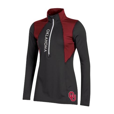 Oklahoma Sooners Women's Long Sleeve 1/2 Zip Performance Sweatshirt - image 1 of 1