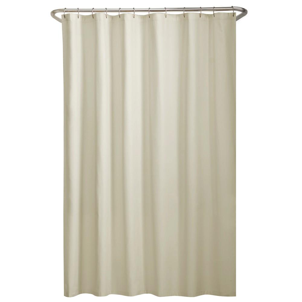 Water Repellant Fabric Shower Liner Cream (Ivory) - Maytex