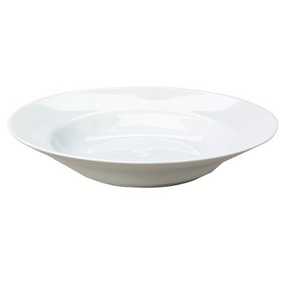 Royal White Porcelain Rimmed Soup Bowls 8oz White - Set of 6
