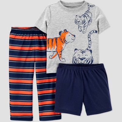 Toddler Boys' 3pc Poly Tiger Pajama Set - Just One You® made by carter's