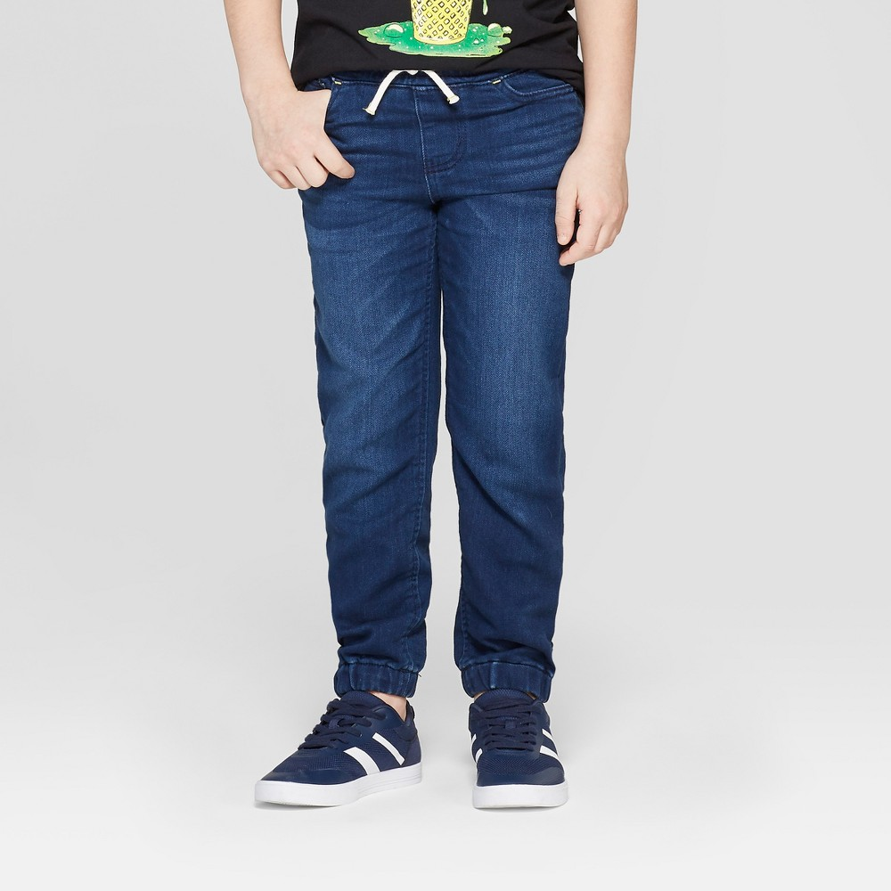 Boys' Athletic Fit Jeans - Cat & Jack Medium Wash 14, Blue