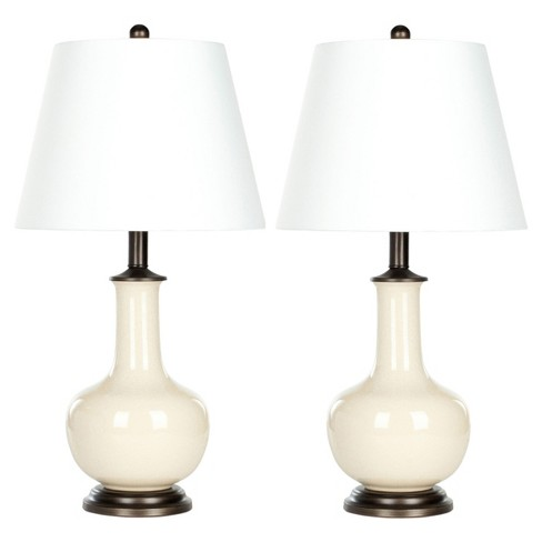 Cream Porcelain Table Lamp Set of 2 - Safavieh - image 1 of 3