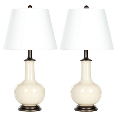Cream Porcelain Table Lamp Set Of 2   Safavieh : Target