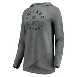 NFL Chicago Bears Women's Victory Circle Gray Lightweight Hoodie