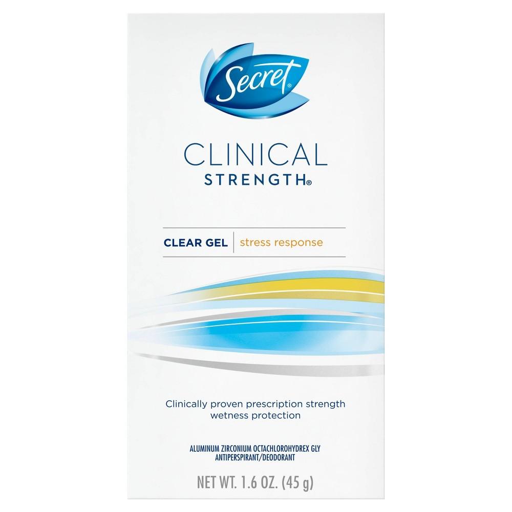 Secret Clinical Strength Antiperspirant and Deodorant Clear Gel Stress Response - 1.6oz, White
