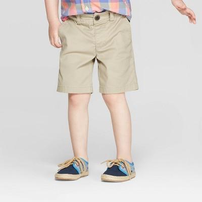 OshKosh B'Gosh Toddler Boys' Flat Front Shorts - Khaki 3T