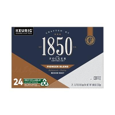 Folgers 1850 Pioneer Blend Dark Roast Coffee - Keurig K-Cup Pods - 24ct