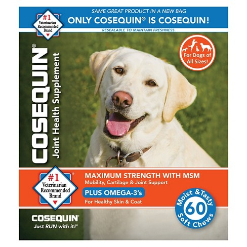 Cosequin Glucosamine & Omega 3 Soft Chew Dog Supplements -60 ct - image 1 of 1