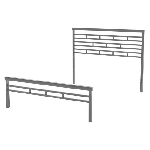 Amisco Highway Metal Headboard and Footboard Gray Full/Queen - image 1 of 1