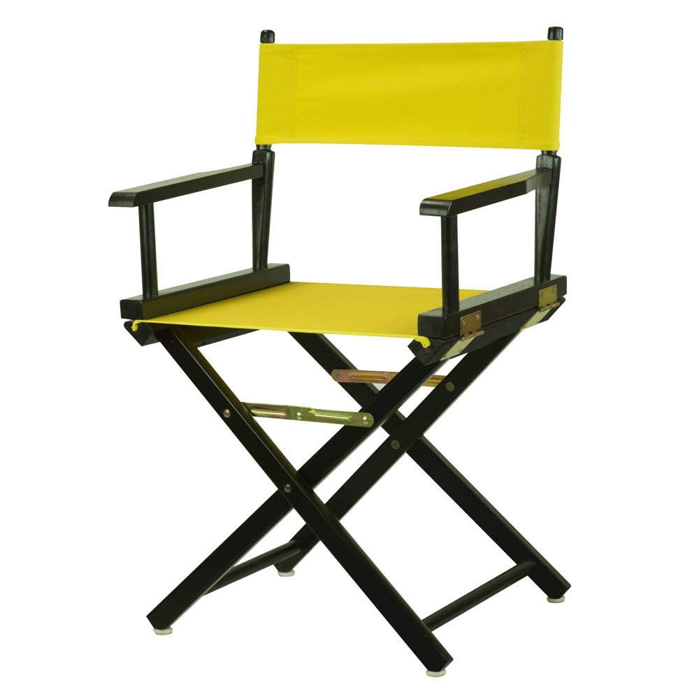 Director S Chair Black Frame Yellow Canvas