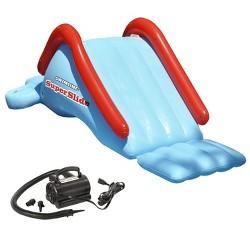 Swimline 90809 Super Kids Water Slide Swimming Pool Inflatable w/ 110V Air Pump