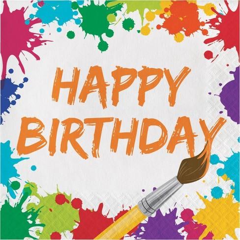 48 ct Confetti Sprinkles Birthday Napkins