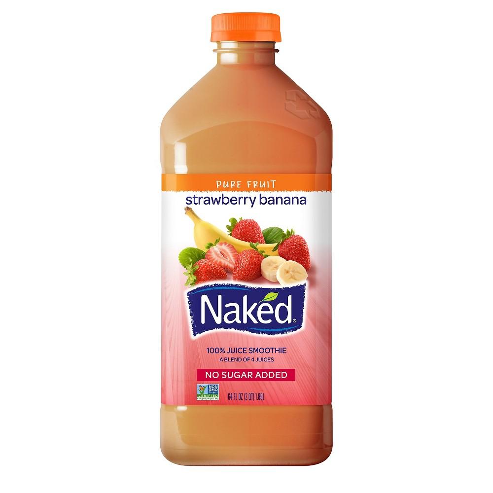 Naked Pure Fruit Strawberry Banana Juice Smoothie (15.2 fl