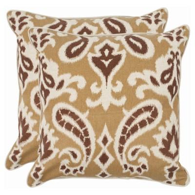 Brown Dylan Throw Pillows 2 Pack - (22 x22 )- Safavieh®