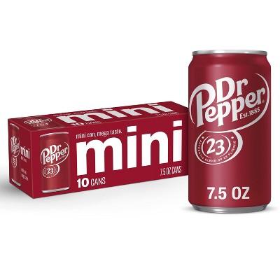 Dr Pepper Soda - 10pk/7.5 fl oz Mini Cans