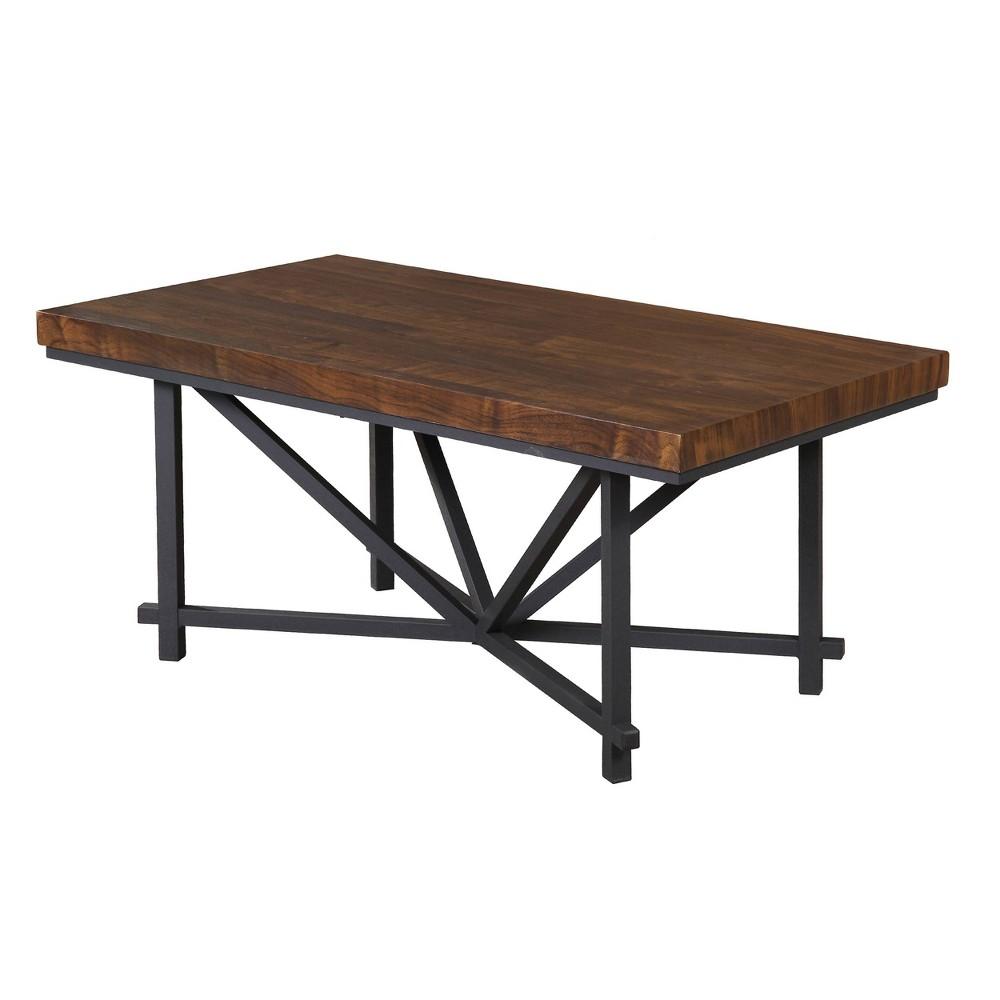 Wood Top Coffee Table Brown - Home Source Industries