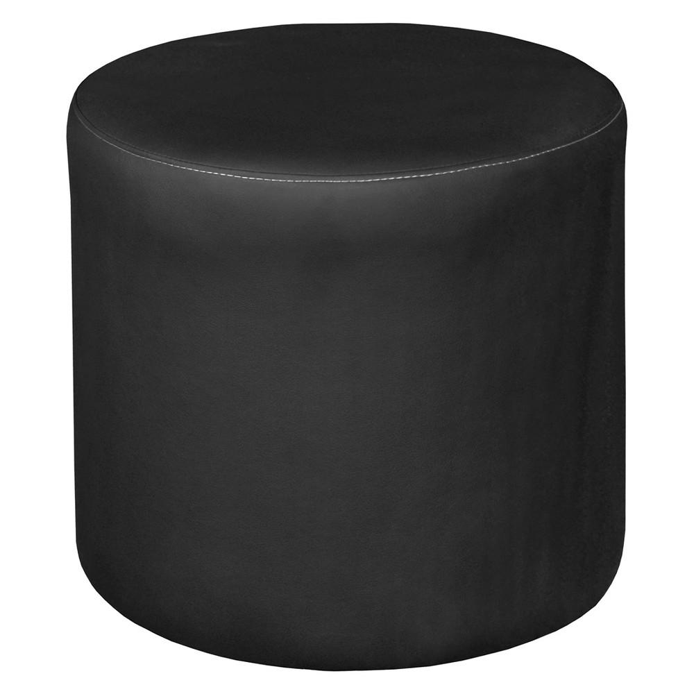 Image of Logan Round Ottoman Black - Niche