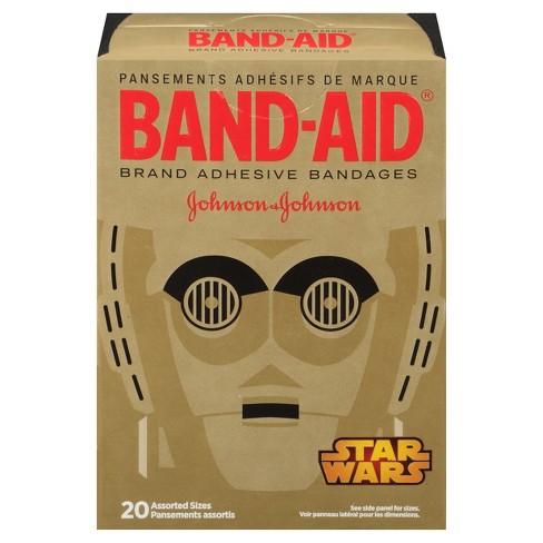 band aid star wars adhesive bandages 20ct target