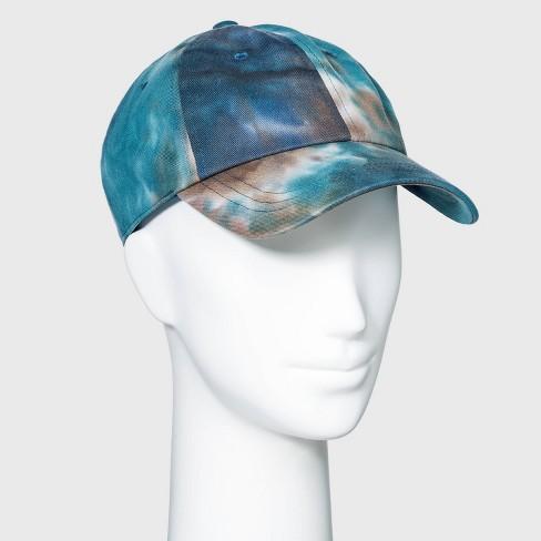 Women's Tie-Dye Baseball Hat - Wild Fable™ Green/Brown - image 1 of 2