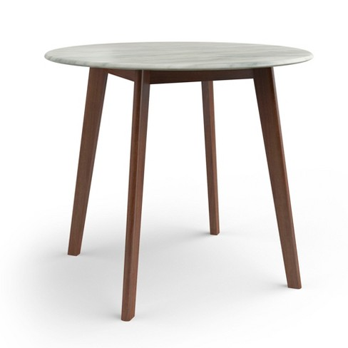 Round Dining Table With Faux Marble Top