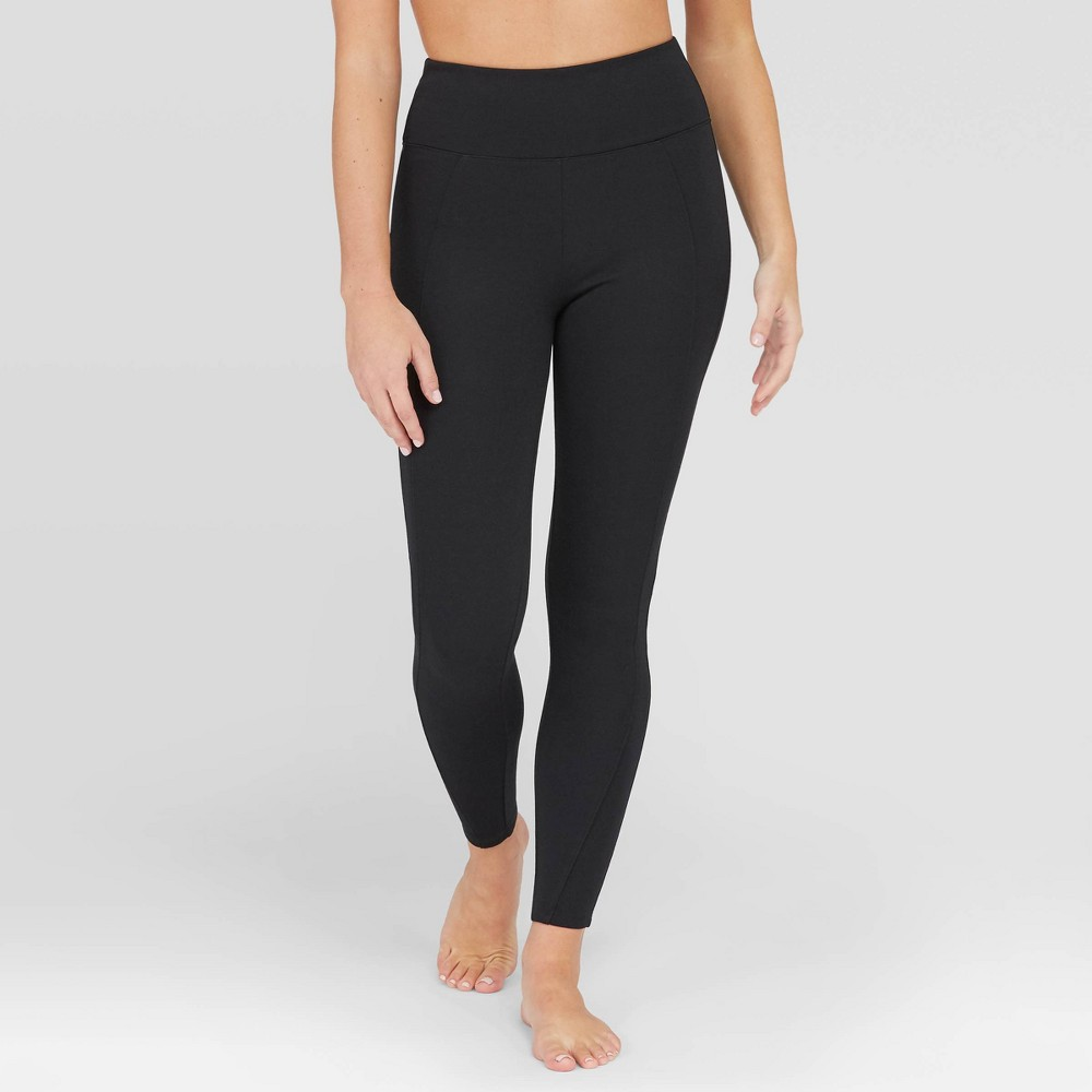 Image of Assets By Spanx Women's Ponte Shaping Leggings - Black 1X, Size: 1XL