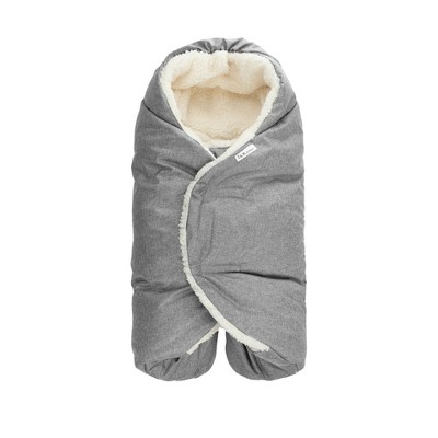 7AM Enfant Nido Cloud Blanket Wrap - Heather Gray - Small
