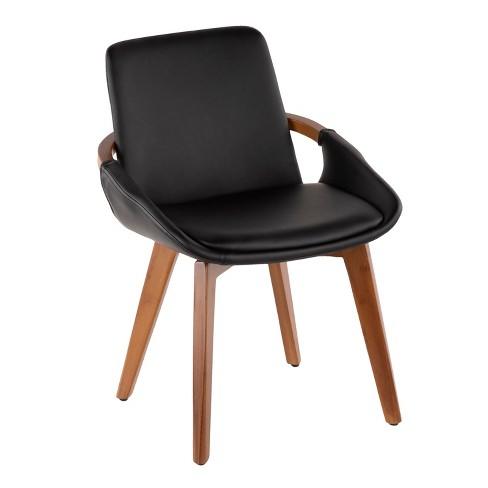 Cosmo Mid-Century Modern Chair Black/Walnut - LumiSource - image 1 of 4