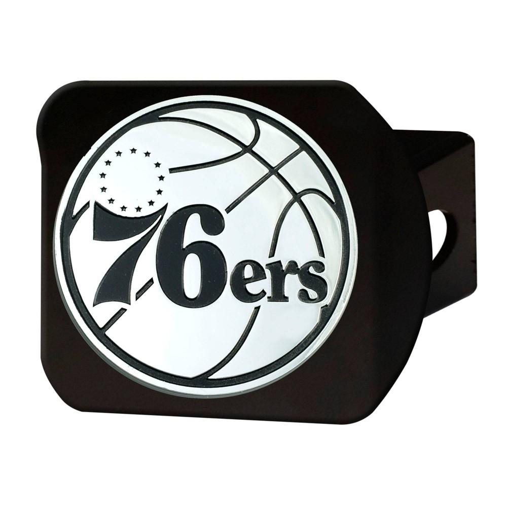 Nba Philadelphia 76ers Chrome Metal Hitch Cover Black