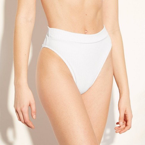 1bbbbffd89b7 Women's Knit High Leg High Waist Bikini Bottom - Xhilaration™ White : Target