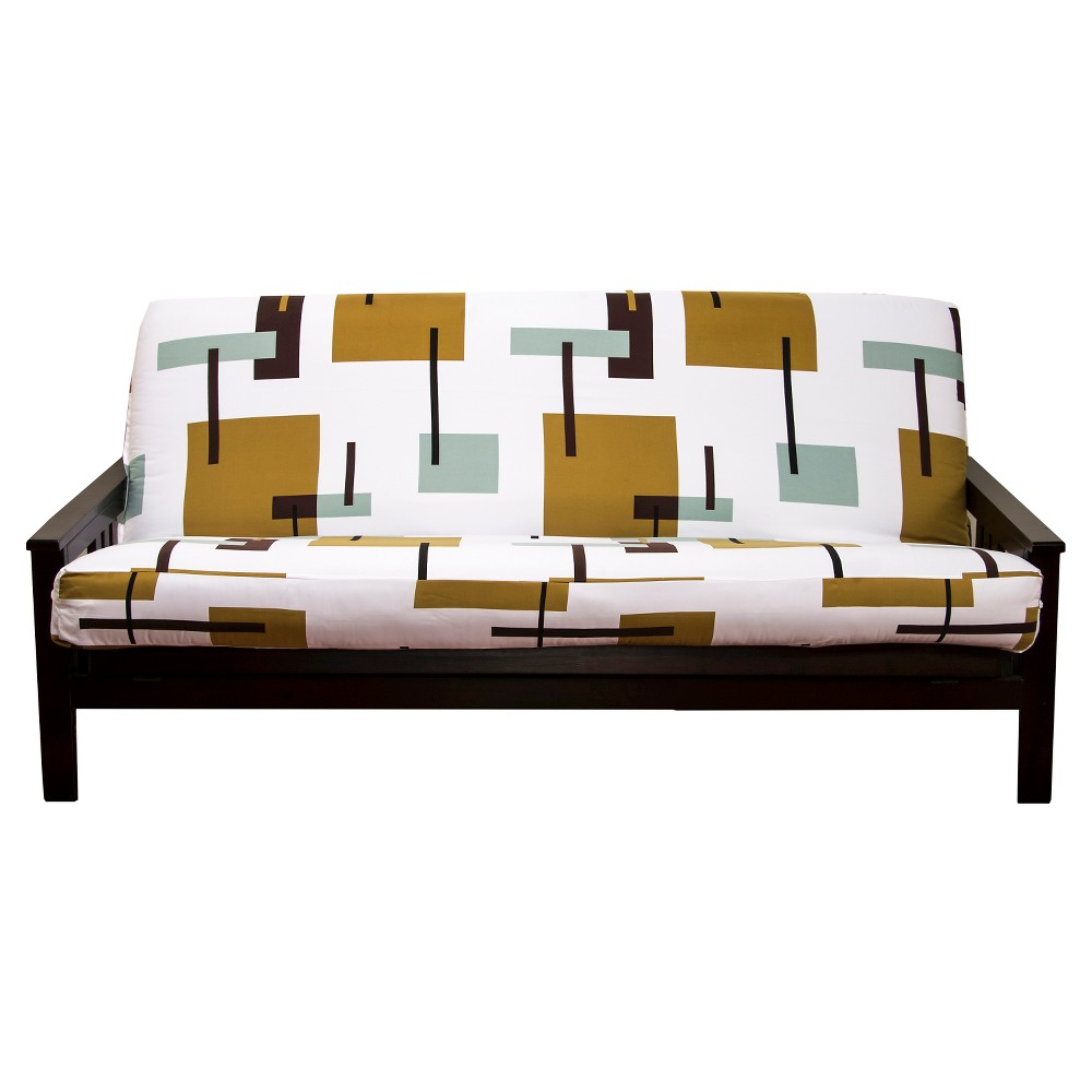 Image of Reconstruction Full Futon Cover Green - Siscovers