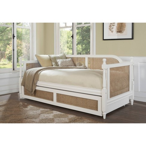 Melanie Wood And Cane Daybed Twin White Hillsdale Furniture Target