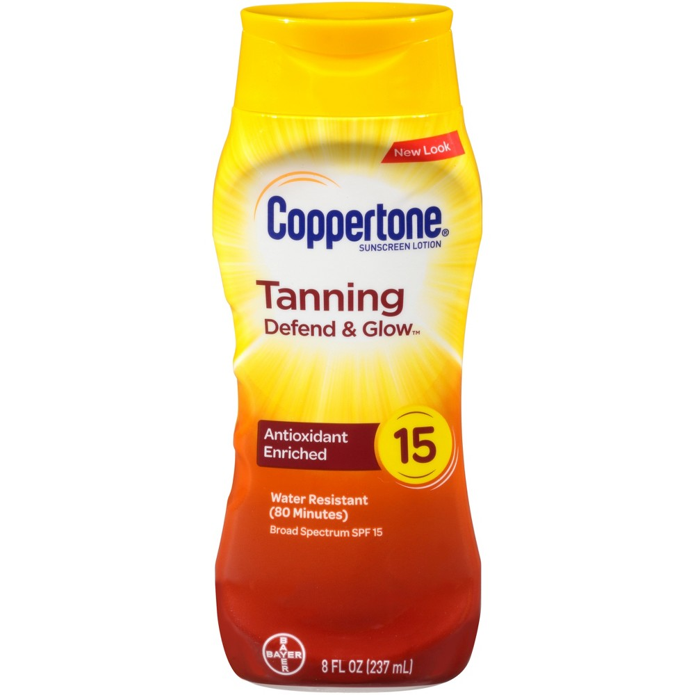 Coppertone Tanning Lotion - Spf 15 Sunscreen - 8oz