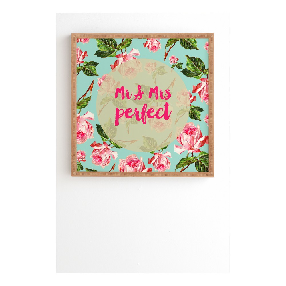 Allyson Johnson Floral Mr And Mrs Perfect Framed Wall Art 30