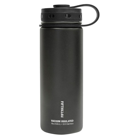 FIFTY FIFTY Vacuum Insulated Stainless Steel Bottle with Wide Mouth - 18 Oz 432de1f45b7b
