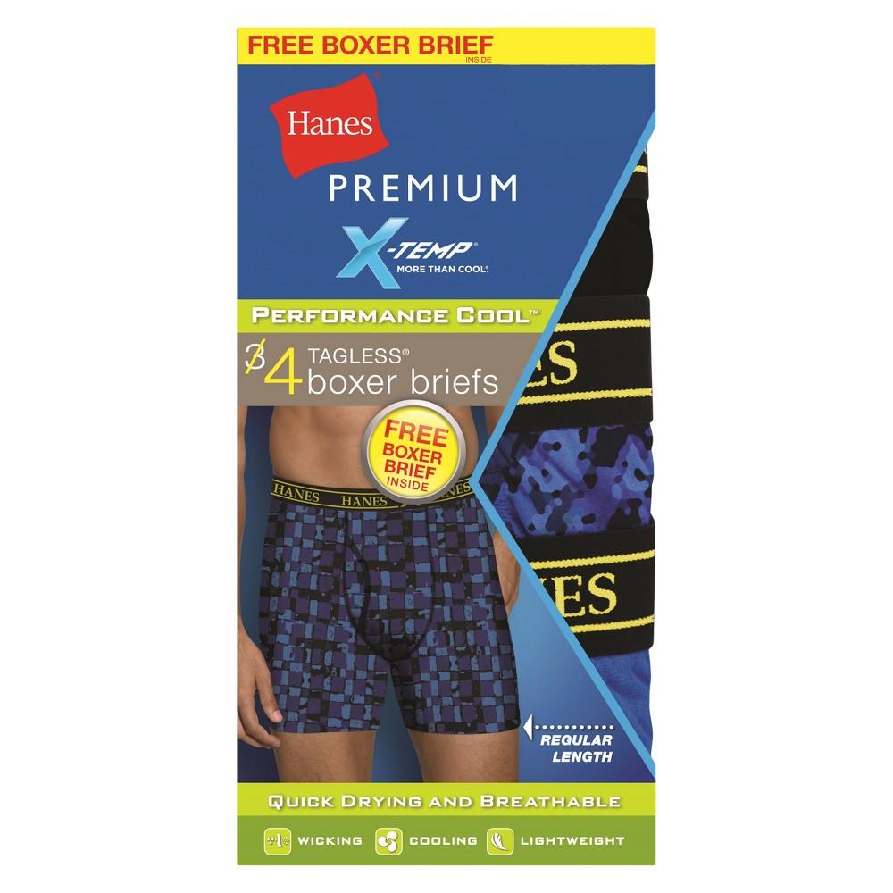 Hanes Premium Men's Boxer Briefs 4pk Colors Vary - XL, Multicolored