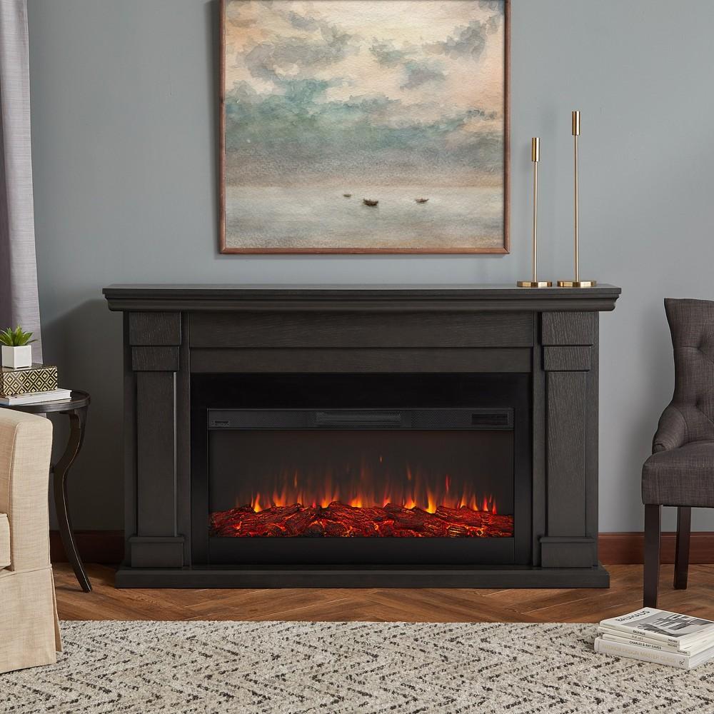 Carlisle Electric Decorative Fireplace Gray - Real Flame
