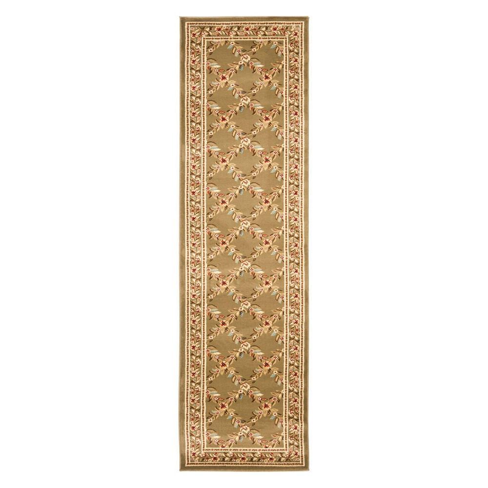 23X16 Floral Loomed Runner Green - Safavieh Coupons