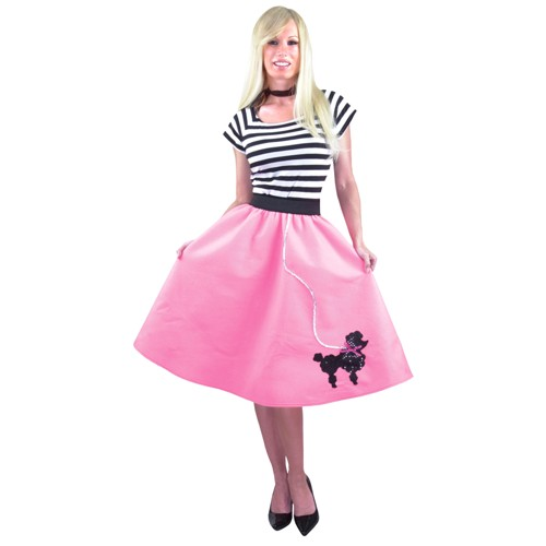 Halloween Women's Pink Costume Poodle Skirt Plus - 1X (18-22), Size: Small