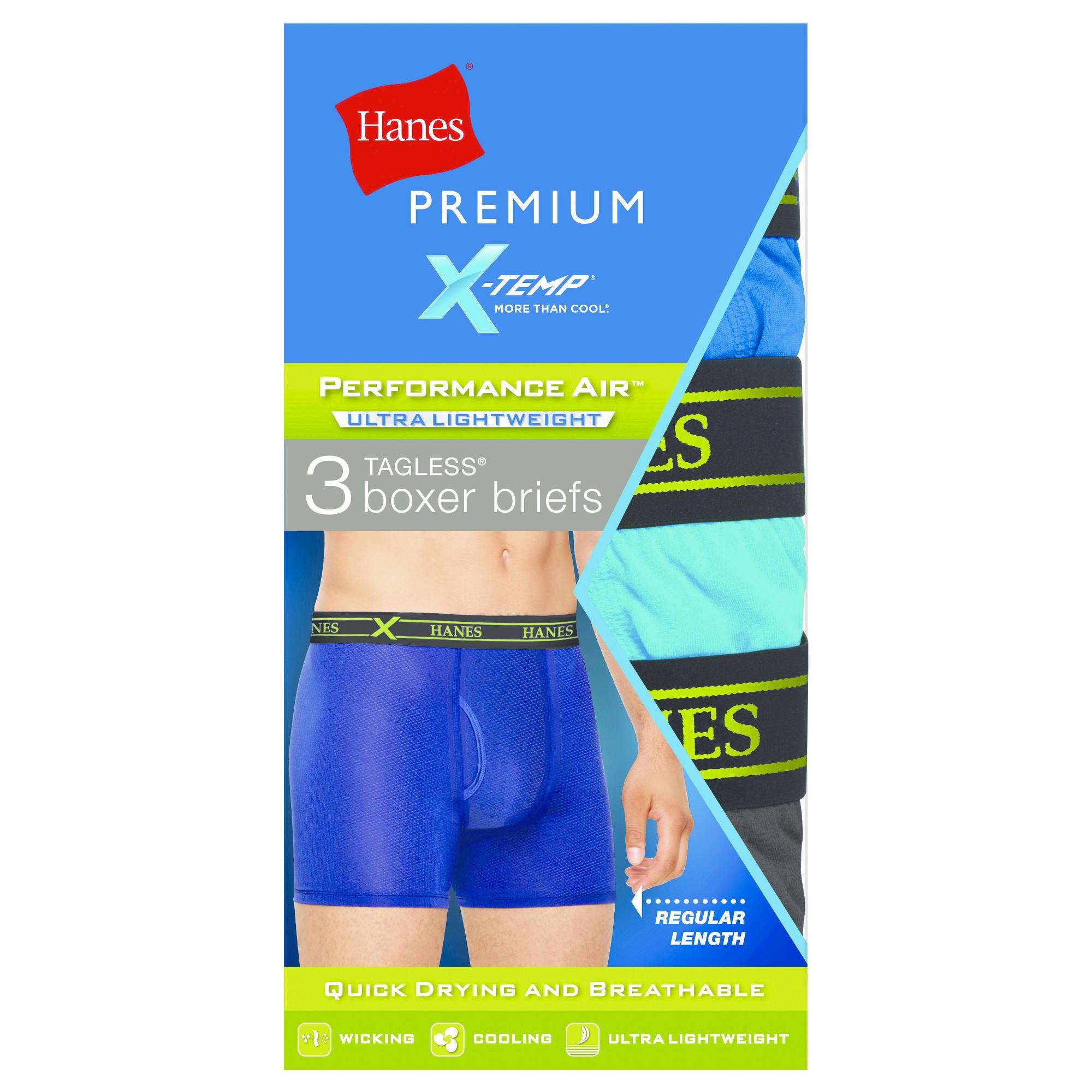 Hanes Premium Men's Performance Ultralight Boxer Briefs Colors Vary - L, Multicolored