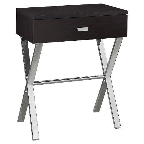Accent Table, Night Stand - Chrome Metal - EveryRoom - image 1 of 2
