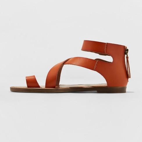fb8a68cc4b0 Women s Maribella Toe Wrap Gladiator Sandal - Universal Thread™ Cognac 5    Target