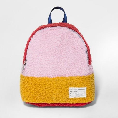 12be0de857 Toddler Girls  Sherpa Backpack Handbag - Cat   Jack™ Pink   Target