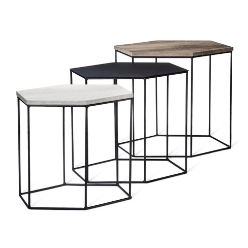 Meredith 3pk Hexagonal Accent Tables - Project 62™ - image 1 of 7