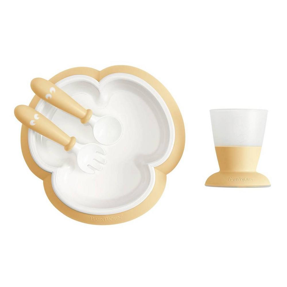 Image of BabyBjorn Baby Feeding Set - Powder Yellow
