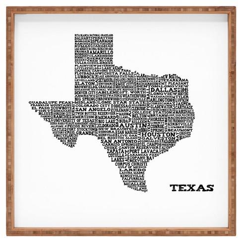 Restudio Designs Texas Map Square Tray - Orange - Deny Designs - image 1 of 1