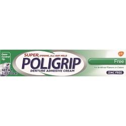 Poligrip Super Free Denture Adhesive Cream - 2.4oz